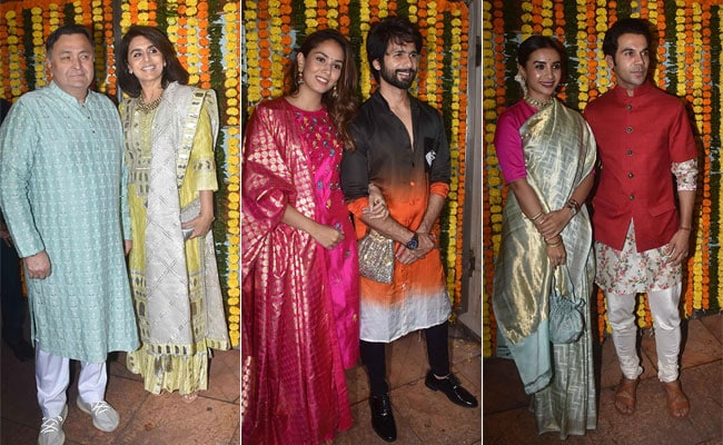 Diwali 2019: Inside Ekta Kapoor's Grand Party With Rishi, Neetu, Shahid, Mira, Rajkummar And Others. See Pics