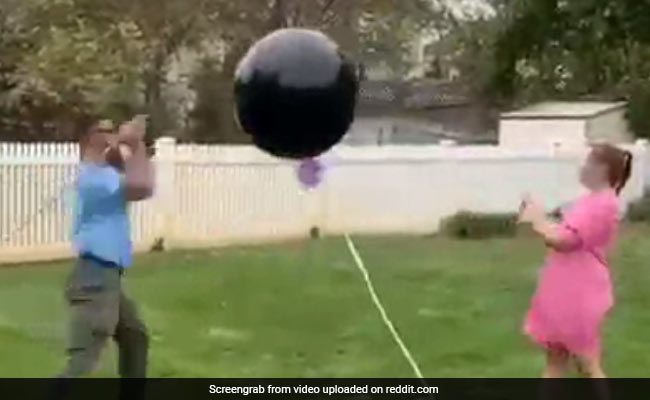 Watch: Gender Reveal Fails As Balloon Refuses To Pop, Then Floats Away