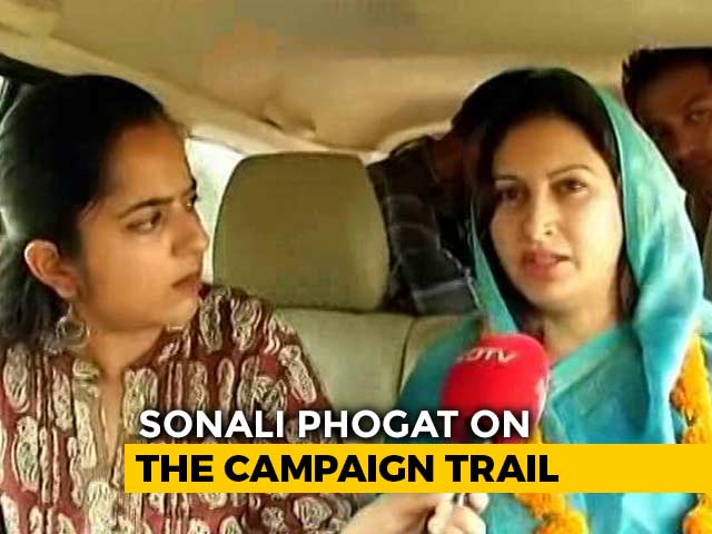 "Video : BJP's TikTok Star Sonali Phogat Sees ""Amethi"" In Haryana Poll Fight"