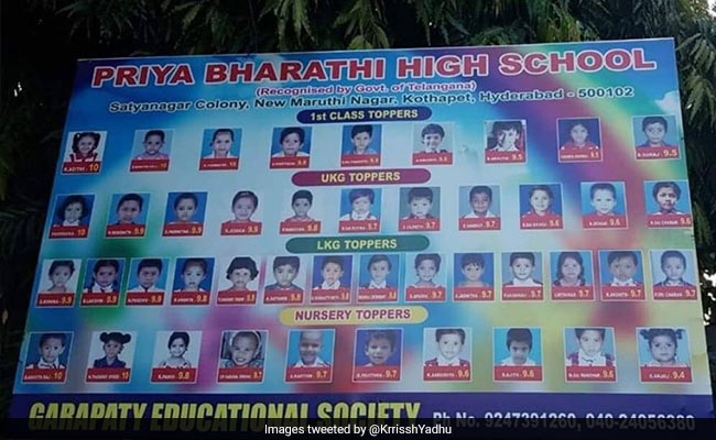 Hyderabad School Flaunts Nursery 'Toppers' In Ad, Twitter Users Aghast