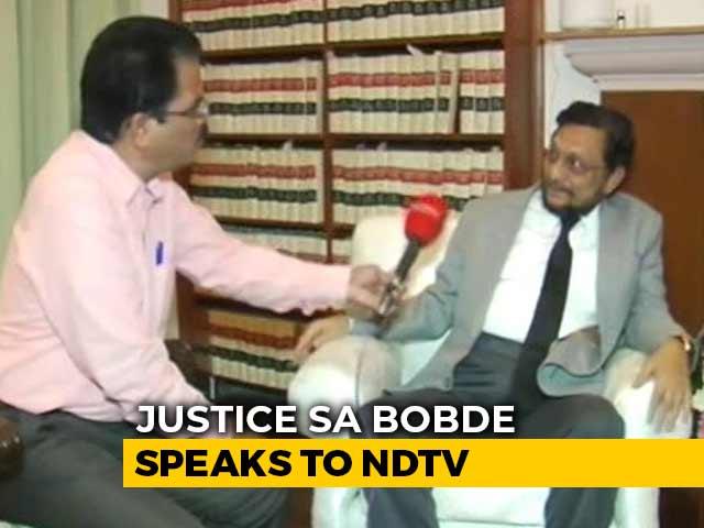 "Video : On Government-Judiciary Relation, Justice SA Bobde Talks Of ""Mutual Respect"""