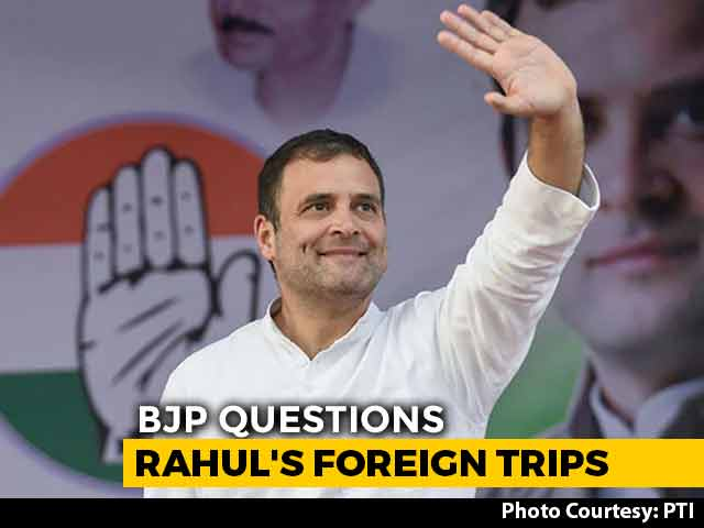 """Video : """"Frequent Flyer"""" Rahul Gandhi Must Give Details Of Foreign Trips: BJP"""