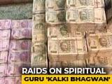 "Video : Rs. 409 Crore Receipts Found In Multi-City Raids On Spiritual Guru ""Kalki Bhagwan"""