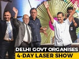 Video : Delhi Launches Diwali Festivities With Mega Laser Show At Connaught Place
