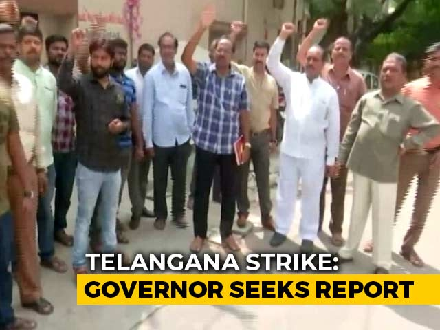 Video : No End To Transport Strike, Telangana Governor Steps In After Meeting PM