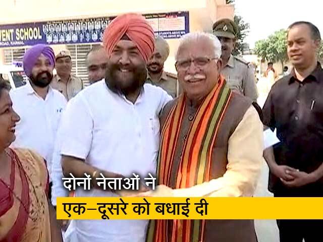 Videos : Haryana Election 2019: अपने खिलाफ चुनाव लड़ रहे प्रत्याशी को सीएम खट्टर ने दी शुभकामनाएं