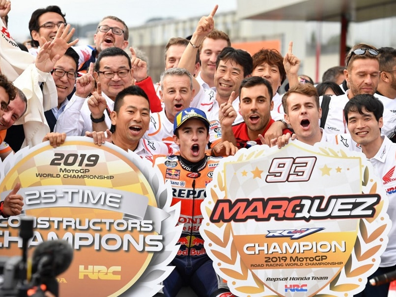 Champion Marc Marquez Clinches MotoGP Constructors Title For Honda