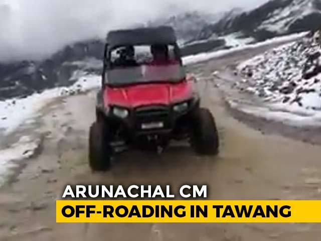 """Video : Watch: Arunachal Chief Minister """"Off-Roading At 15,600 Feet"""""""