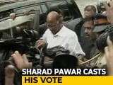 Video : Maharashtra Elections: Sharad Pawar Among Early Voters In Mumbai