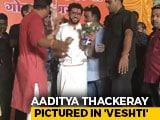Video : After PM, Shiv Sena's Aaditya Thackeray Seen In <i>Veshti</i> While Campaigning