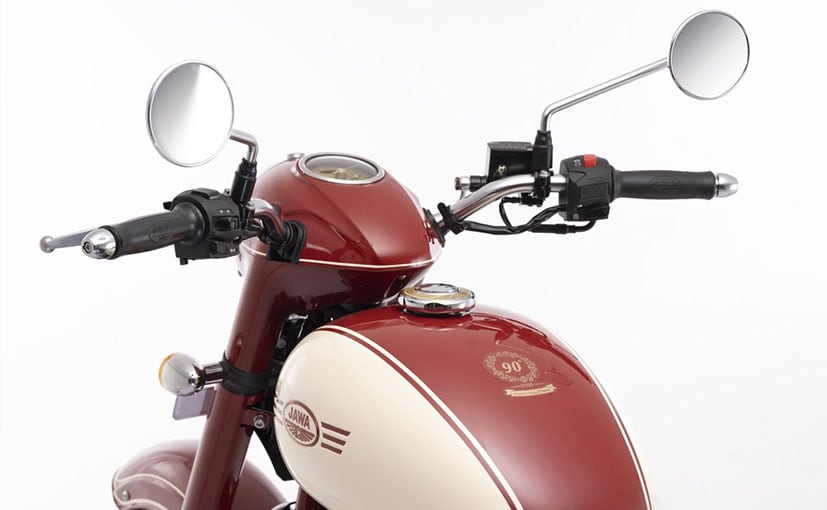Image result for Jawa 90th Anniversary Edition launched in <a class='inner-topic-link' href='/search/topic?searchType=search&searchTerm=INDIA' target='_blank' title='india-Latest Updates, Photos, Videos are a click away, CLICK NOW'></div>india</a> at Rs.1.73 Lakhs