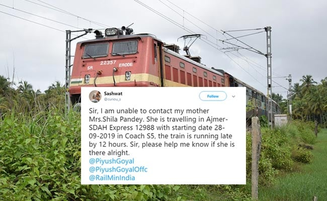Man Couldn't Get In Touch With Mother On Train. Then Railways Did This