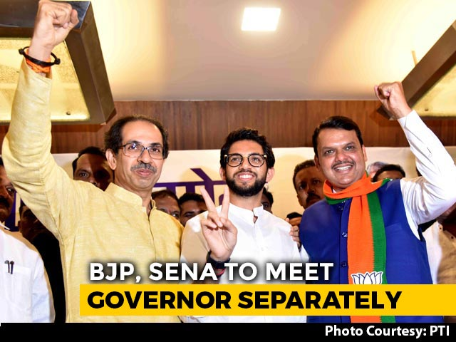 Video : BJP, Sena To Meet Governor Separately: Sources Amid Power-Sharing Tussle