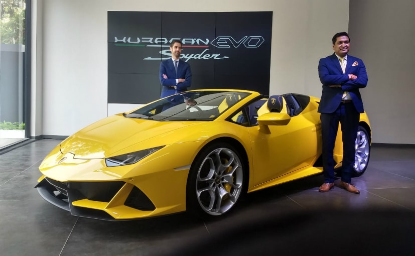 Seen here are Sharad Agarwal, Head, Lamborghini India & Matteo Ortenzi, CEO, Lamborghini APAC