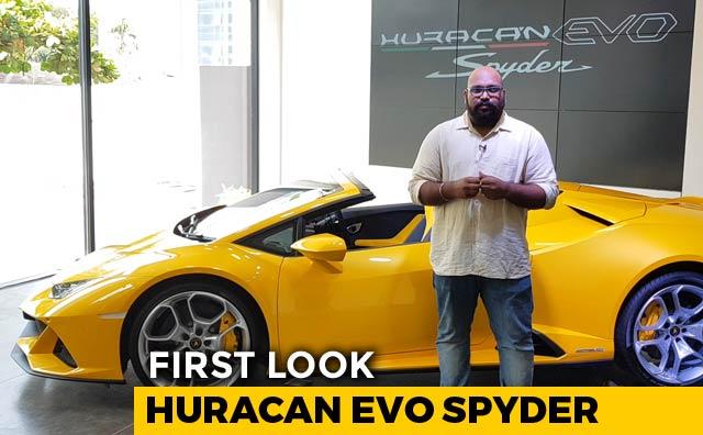 Video : Lamborghini Huracan Evo Spyder First Look