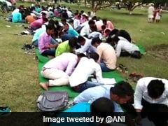 Students Write Exams In Open Due To Space Crunch At Bihar College