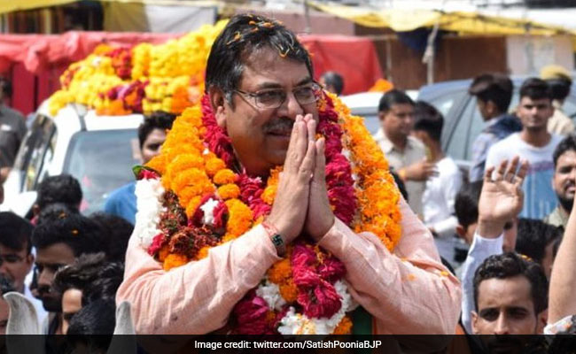 Rajasthan's New BJP Chief Takes Charge, Vasundhara Raje Absent