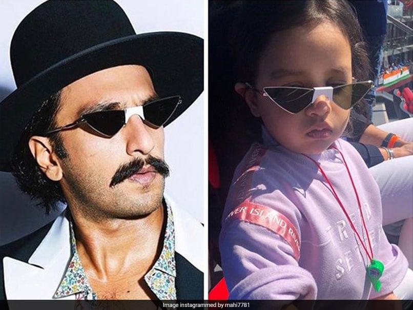 MS Dhoni Amused As Ziva Spots Ranveer Singh Wearing Similar Sunglasses