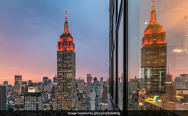 New York's Iconic Empire State Building Lights Up To Mark Diwali
