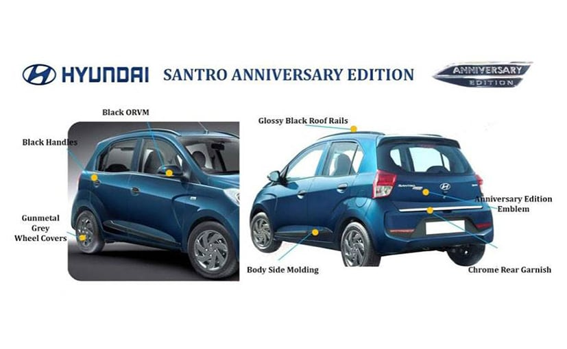 The Hyundai Santro Anniversary edition will be launched soon