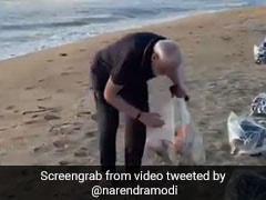 महाबलीपुरम के समुद्र तट पर PM मोदी ने की साफ-सफाई, VIDEO शेयर कर बोले- तय करें कि...