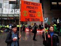 Climate Change Protesters Block BBC Headquarters In London