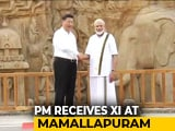 Video : Dressed In <i>Veshti</i>, PM Gives Xi Jinping A Tour Of Ancient Tamil Monuments