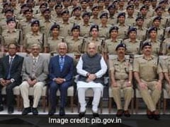 Home Minister Interacts With Probationers Of Indian Police Service 2018 Batch
