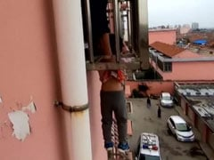 Boy Dangles By Head From Fourth Floor Window. Watch How He Was Rescued