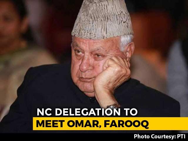 Video : National Conference Delegation Arrives In J&K To Meet Abdullahs