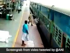 ट्रेन के नीचे गिरने ही वाला था शख़्स, RPF जवान ने ऐसे बचाई जान, VIDEO देख रुक जाएंगी सांसें