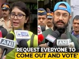"Video : ""We Love Our City, We Love Our State"": Aamir Khan, Kiran Rao Cast Vote"