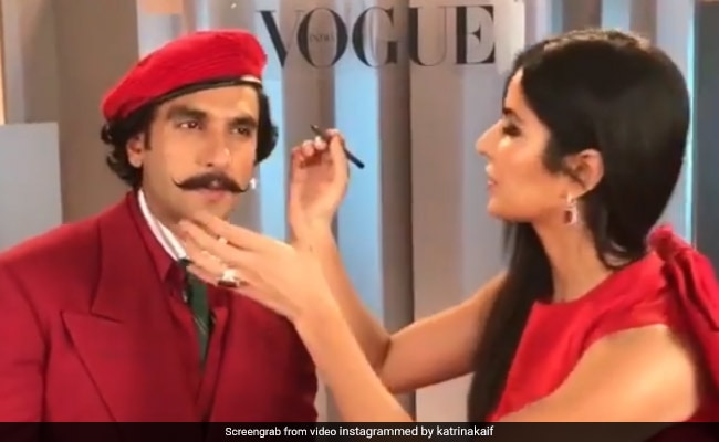 How Katrina Kaif's Makeup Skill Helped Ranveer Singh Achieve 'Unprecedented Level Of Hotness'