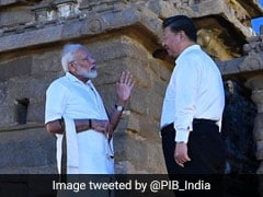 Dressed In <i>Veshti</i>, PM Gives Xi Jinping A Tour Of Ancient Tamil Monuments