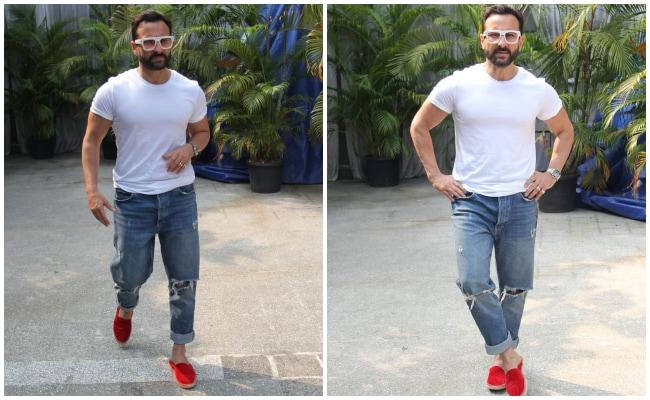 10 Trendy Red Shoes To Team With Denim Like Saif Ali Khan