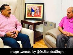 PIB DG Discusses IIMC Jammu With Jitendra Singh