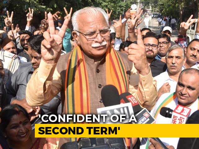 Sweep For BJP's Manohar Lal Khattar In Haryana, Exit Polls Show