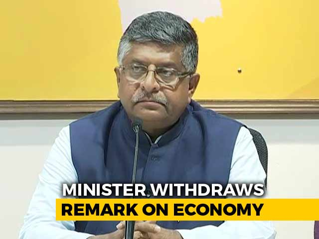 "Video : ""Twisted But..."": Minister On ""Rs. 120 Crore-A-Day"" Remark On Economy"