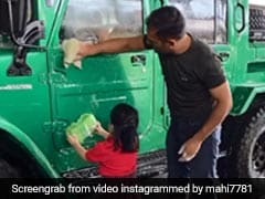 MS Dhoni And Daughter Ziva Clean His New Car Together In Sweet Video