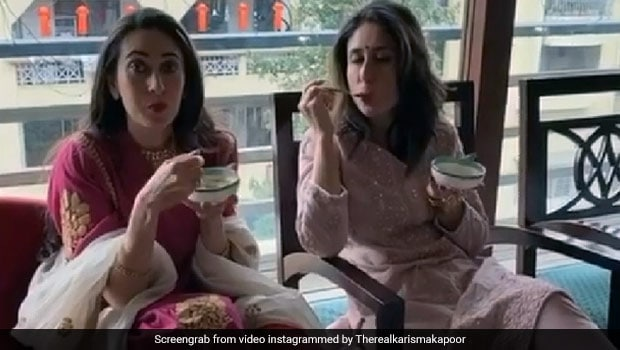 Kareena Kapoor Devours This Chocolate Cake Made By Sister Karisma Kapoor (See Pics Inside)