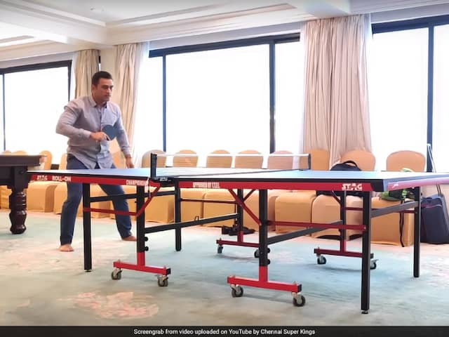 Watch: MS Dhoni Plays Table Tennis With Dwayne Bravo In Chennai Super Kings Throwback Video