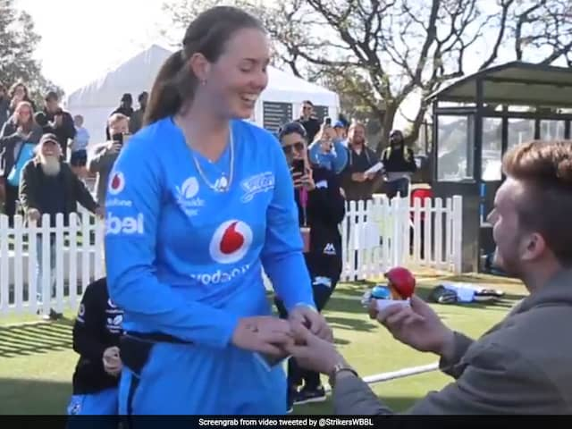 Australia Cricketer Left Speechless As Boyfriend Proposes After Big Bash League Match. Watch