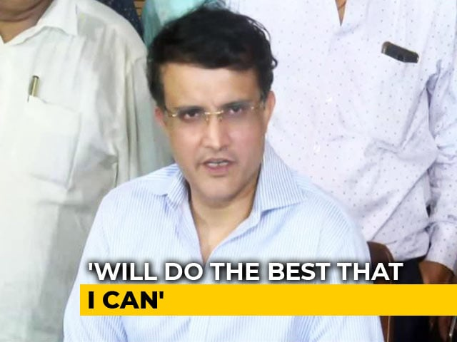 """Video : """"Emergency Like Situation"""": Sourav Ganguly On Becoming BCCI President"""