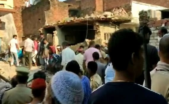 10 Dead After Building Collapses Following Cylinder Blast In UP