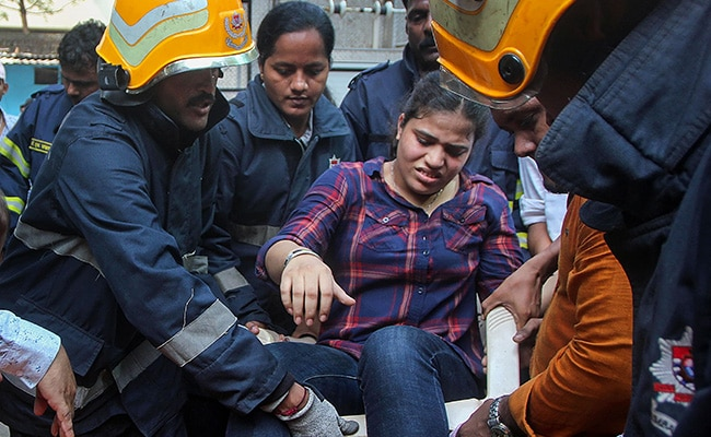 Around 60 Evacuated After Fire In Commercial High-Rise At Mumbai