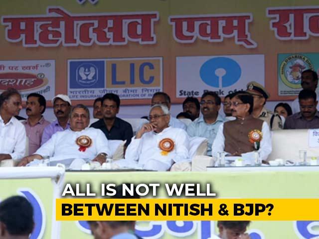 Video : Dussehra Function Exposes Rift Between BJP, Nitish Kumar