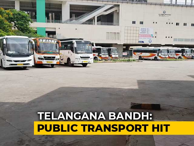 Video : 50,000 Cabs Go Off Telangana Roads As Transport Strike Enters Day 15