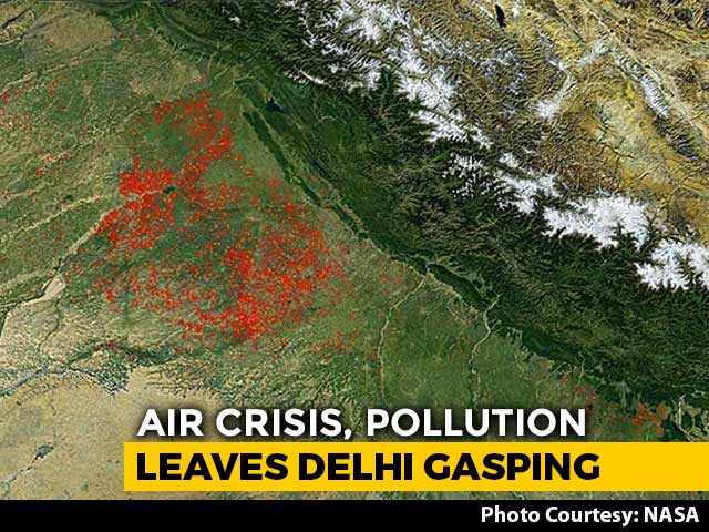 "Video : ""NASA Images Show Spurt In Crop Burning In Punjab, Haryana"": Delhi"