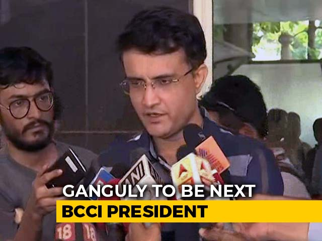 """Video : """"Never Expressed Aspirations"""" To Be BCCI President, Says Sourav Ganguly"""