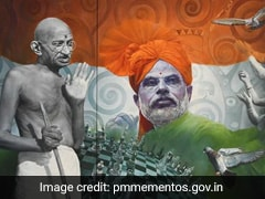 Painting Of PM, Mahatma Gandhi Receives Highest Bid At Mementos E-Auction